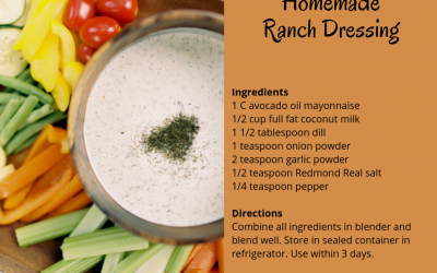 Back to School Snacking: Creamy Ranch Dressing