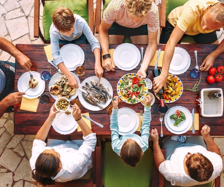 household eating